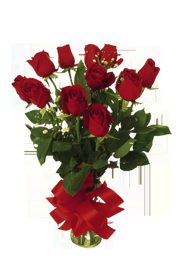 Bukett med röda rosor
